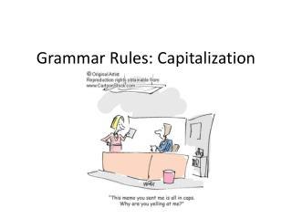 Grammar Rules: Capitalization