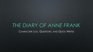 anne frank character conflicts