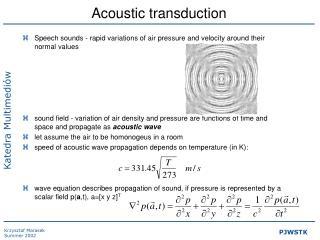 Acoustic transduction