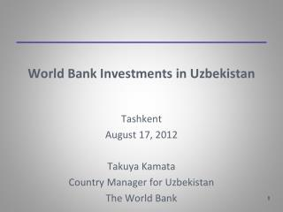 World Bank Investments in Uzbekistan