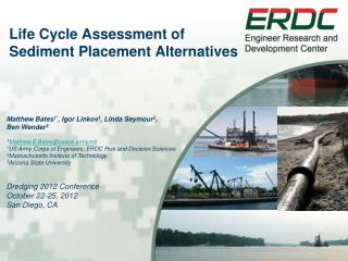 Life  Cycle Assessment  of Sediment Placement Alternatives