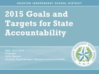 2015 Goals and Targets for State Accountability
