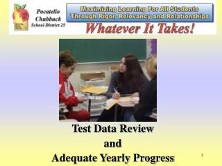 Test Data Review and Adequate Yearly Progress