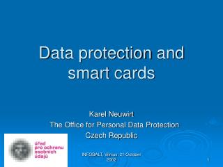 D ata protection  and smart cards