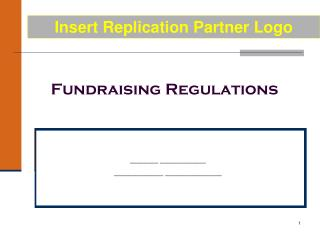 Fundraising Regulations