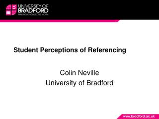 Student Perceptions of Referencing