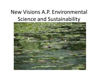 New Visions A.P. Environmental Science and Sustainability