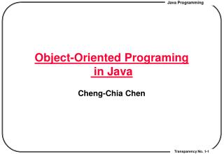 Object-Oriented Programing  in Java