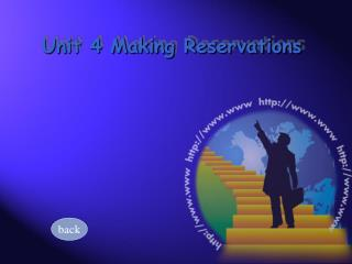 Unit 4 Making Reservations