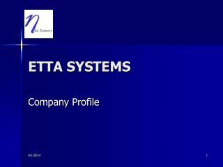 ETTA SYSTEMS