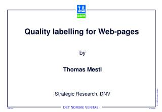 Quality labelling for Web-pages
