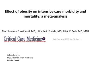 Crit  Care Med 2008 Vol. 36, No. 1