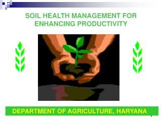 SOIL HEALTH MANAGEMENT FOR ENHANCING PRODUCTIVITY
