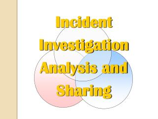 Incident Investigation Analysis and Sharing