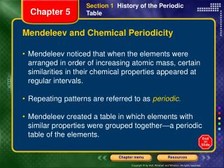 Mendeleev and Chemical Periodicity