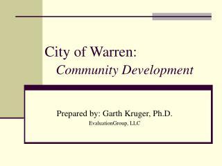 City of Warren: Community Development