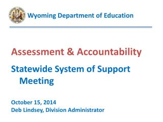 Assessment & Accountability