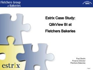 Estrix Case Study: QlikView BI at Fletchers Bakeries