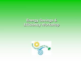 Energy Savings & Efficiency Workshop