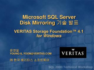 VERITAS Storage Foundation™ 4.1 for Windows