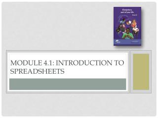 Module 4.1: Introduction to Spreadsheets