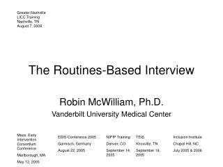 The Routines-Based Interview