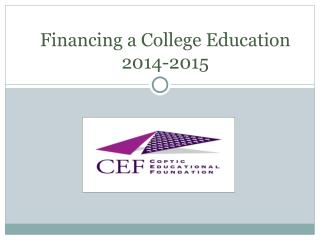 Financing a College Education 2014-2015