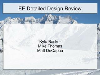 EE Detailed Design Review