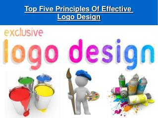 Top Five Principles Of Effective Logo Design