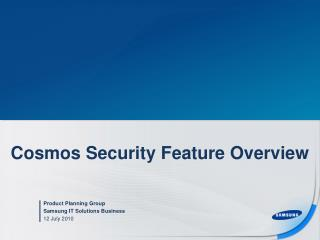 Cosmos Security Feature Overview