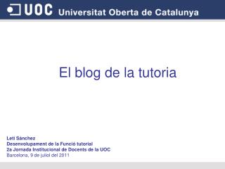 El blog de la tutoria
