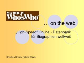 … on the web