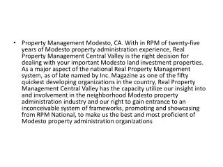 Get Exellent Property Management services with Modesto Property Management