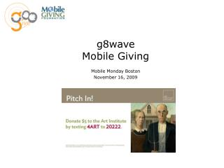 g8wave Mobile Giving