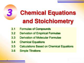 Chemical Equations  and Stoichiometry