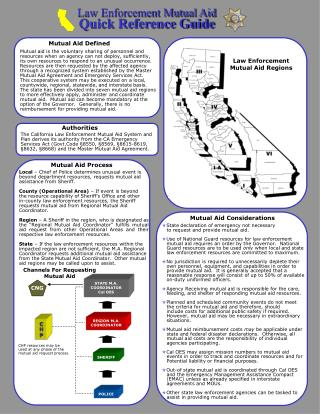 Law Enforcement Mutual Aid Quick Reference Guide