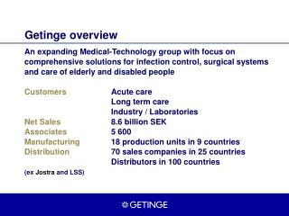 Getinge overview