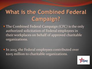 What is the Combined Federal Campaign?