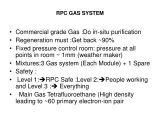 RPC GAS SYSTEM