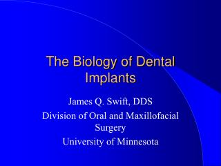 The Biology of Dental Implants