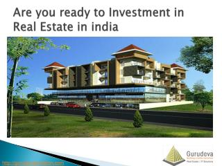 Investment in real estate in india