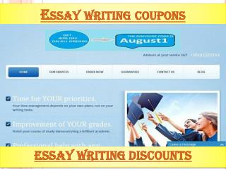 Essay writing coupons