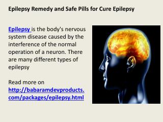 Epilepsy Remedy and Safe Pills for Cure Epilepsy
