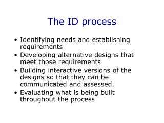 The ID process