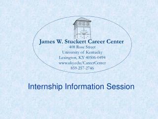 James W. Stuckert Career Center