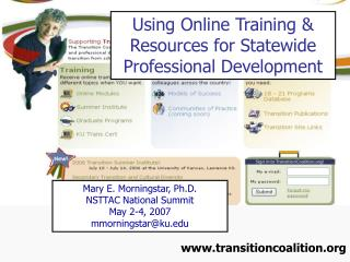 Using Online Training & Resources for Statewide Professional Development