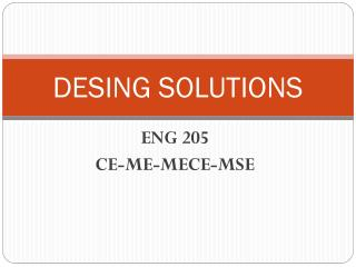 DESING SOLUTIONS