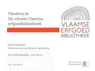 Flandrica.be De virtuele Vlaamse erfgoedbibliotheek