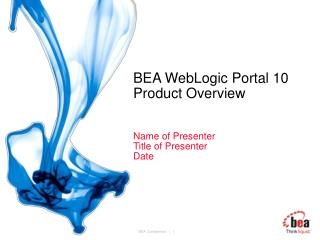 BEA WebLogic Portal 10 Product Overview