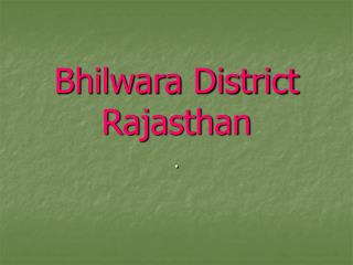 Bhilwara District Rajasthan